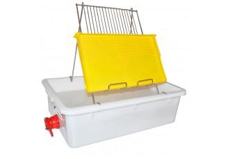 Talíř na odvíčkování na 1 rámek - plast vana - nerez