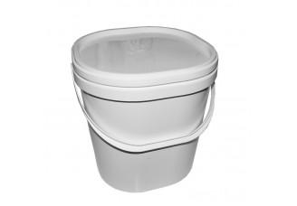 Nádoba na med plastová na 8 kg bílá