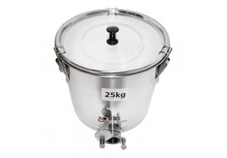 Stáčecí nádoba nerezová na  25 kg medu