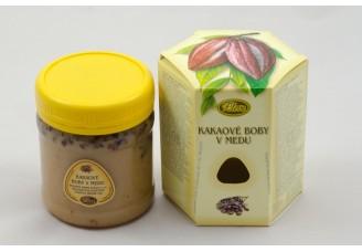 Kakaové boby v medu