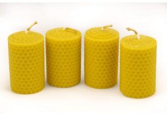 Adventní svíčky ze včelího vosku 4 ks