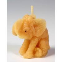 Svíčka ze včelího vosku - slon