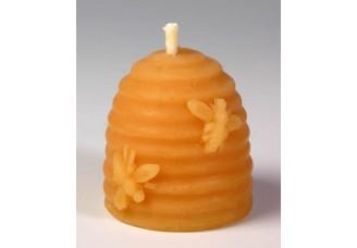 Svíčka ze včelího vosku - úl se včelami