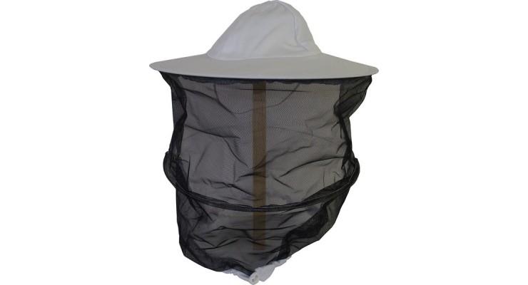 Včelařský klobouk síťka černo-bílá